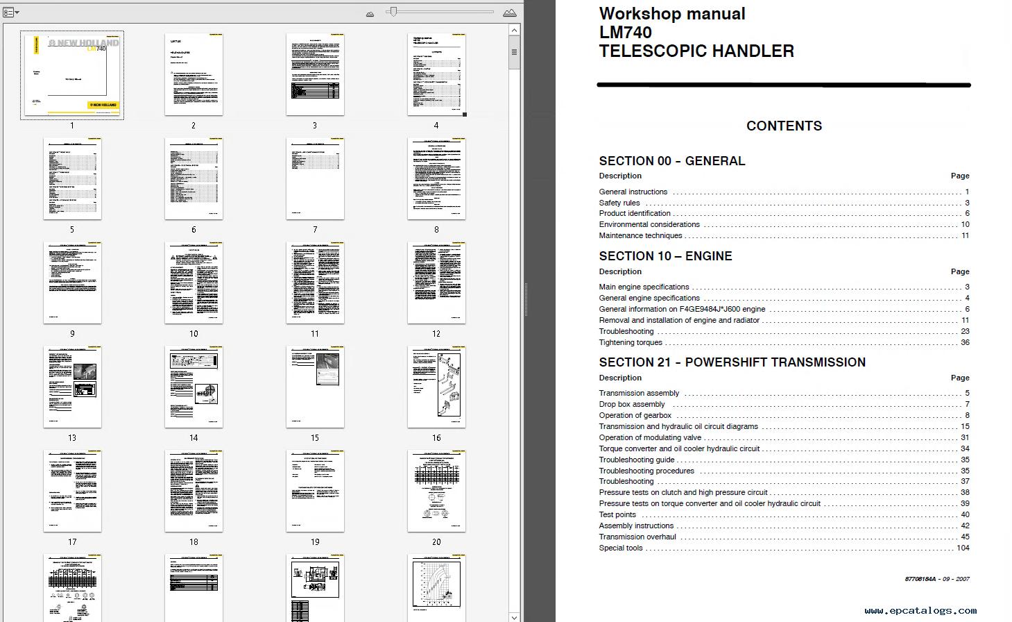 New Holland Lm Telehandler Workshop Service Repair Manual