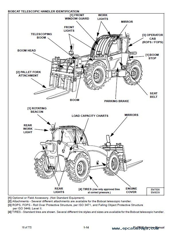 Bobcat Tl470 X Telescopic Handler Service Manual Pdf