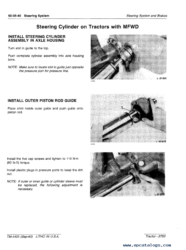 Repair Manual John Deere 2750 Tractor Tm4405 Technical Pdf 5: 2750 John Deere Alternator Wiring Diagram At Mazhai.net