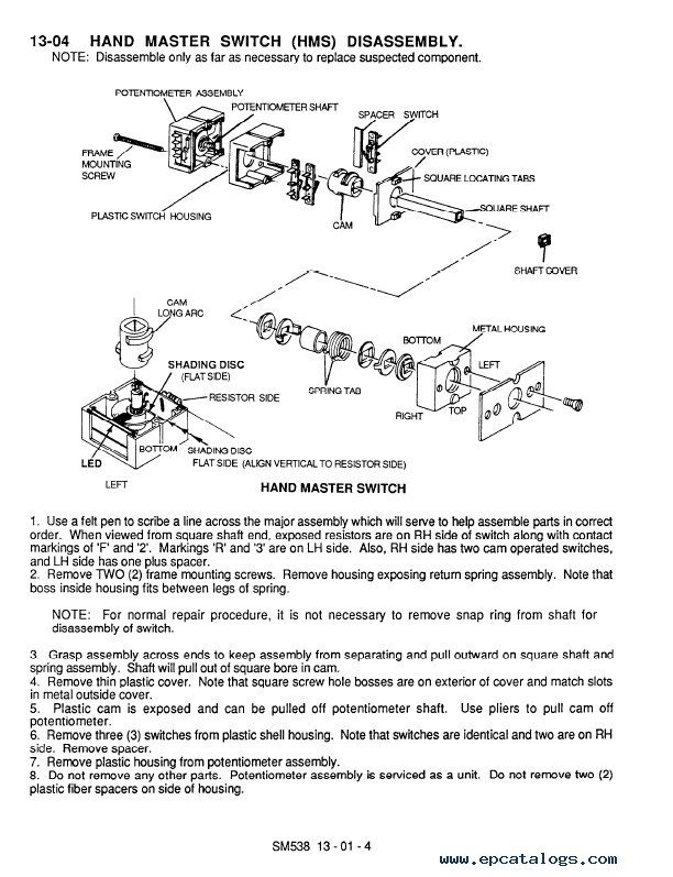 clark service manual sm538 clark ns np 246 sm538 service & adjustment manual pdf  at fashall.co