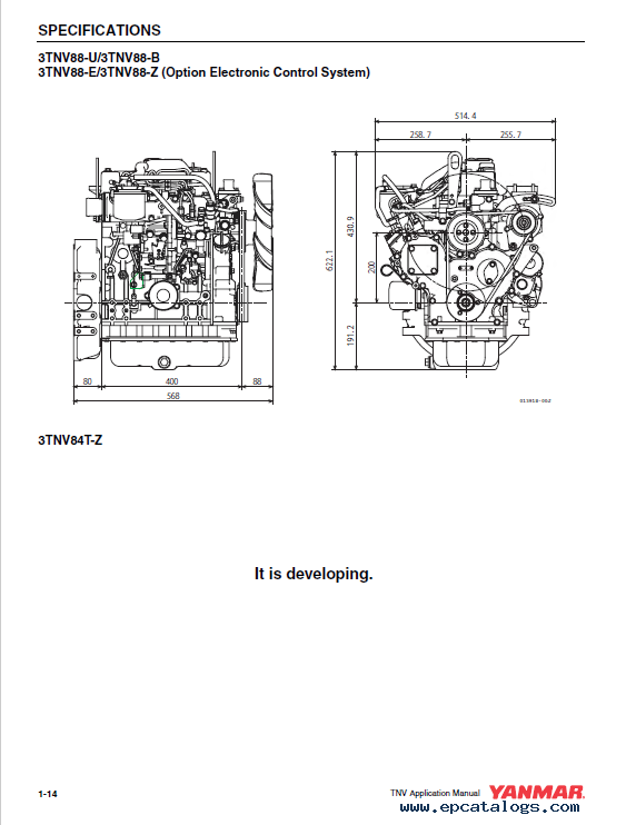 Yanmar 3TNV, 4TNV Series Electronic Control Manual PDF for Hyundai on