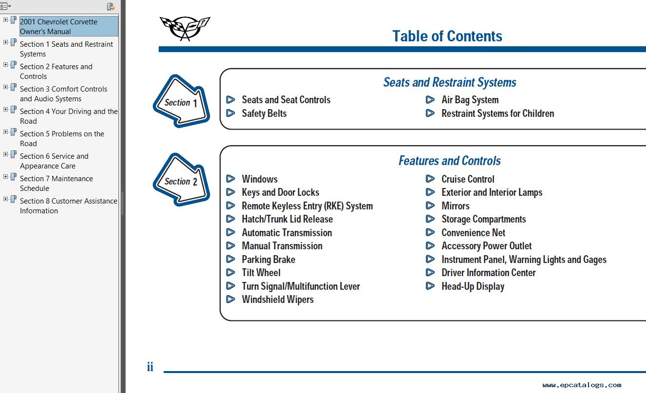 repair manual Chevrolet Chevy Corvette C5 1997-2004 Workshop Manual PDF - 1