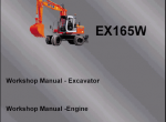 repair manual Fiat Hitachi Excavators EX - 2