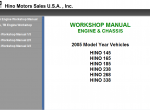 repair manual Hino Workshop Manual 2008 - 1