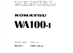 repair manual Komatsu Wheel Loader WA100-1 - 1