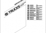 repair manual Nissan UD Trucks 1300, 1400, 1800, 2000, 2300, 2600, 3300 - 1