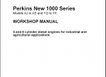 repair manual Perkins New 1000 Series - 1