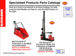 spare parts catalog Raymond forklift - 2
